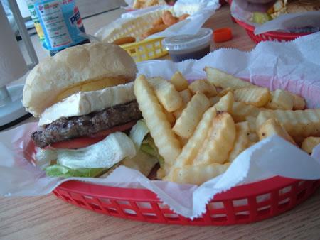 Hawaii Meets the Badger State burger