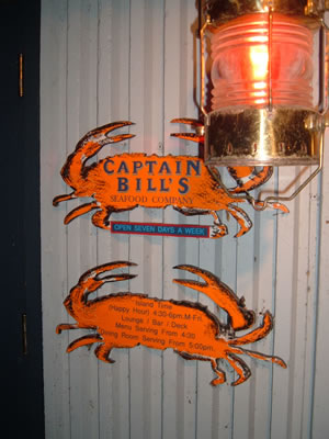 Captain Bill's shingle and lantern
