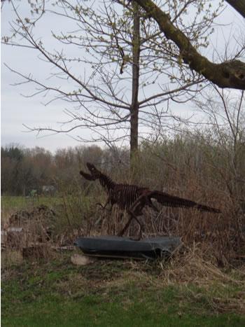 Ferrosaurus Rex dinosaur sculpture