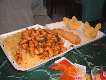 John's meal of Kung Pao chicken